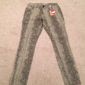 Mission supply co snakeskin skinny jeans